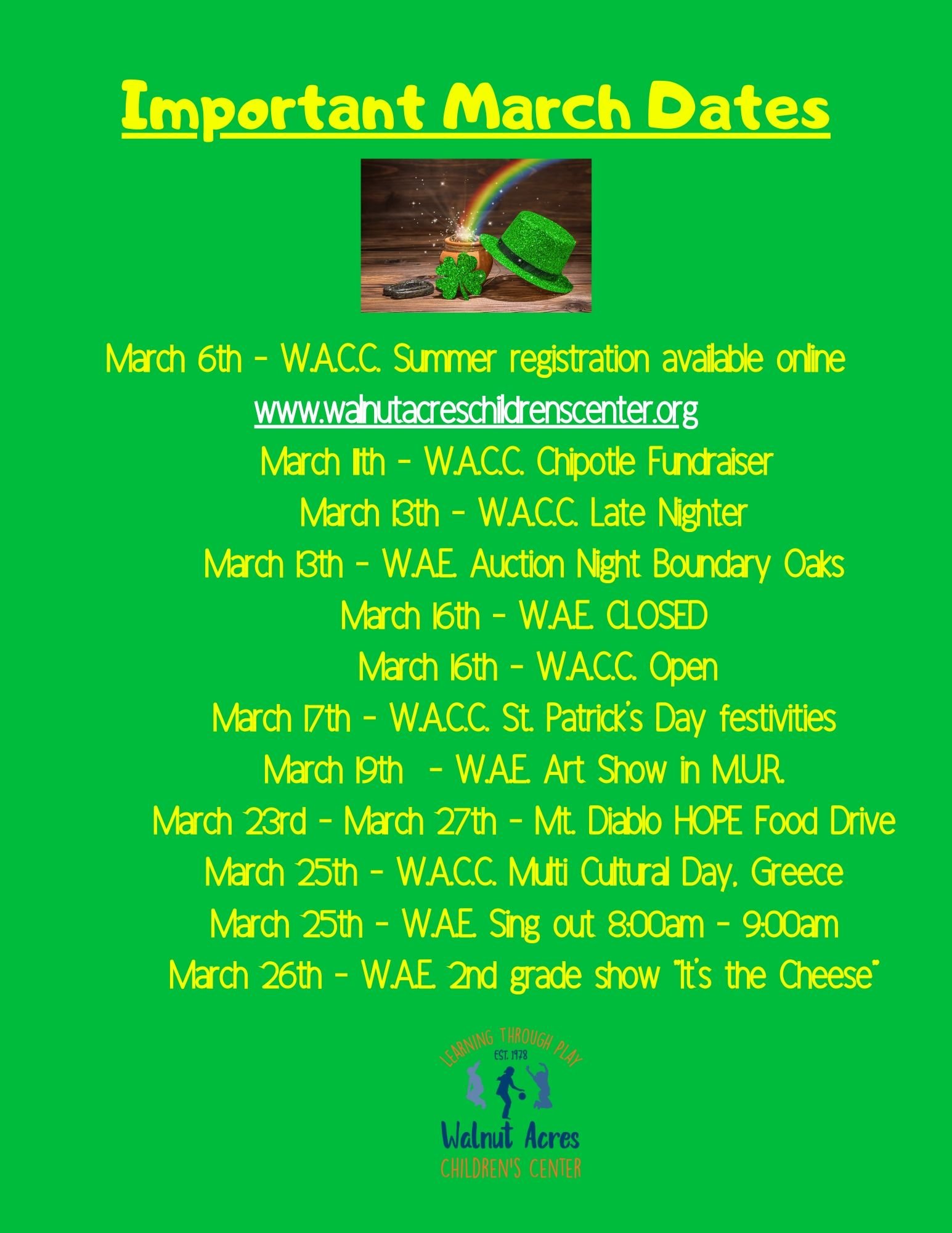 important-march-dates